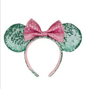 NEVER WORN Mint Green + Pink Mickeys ears